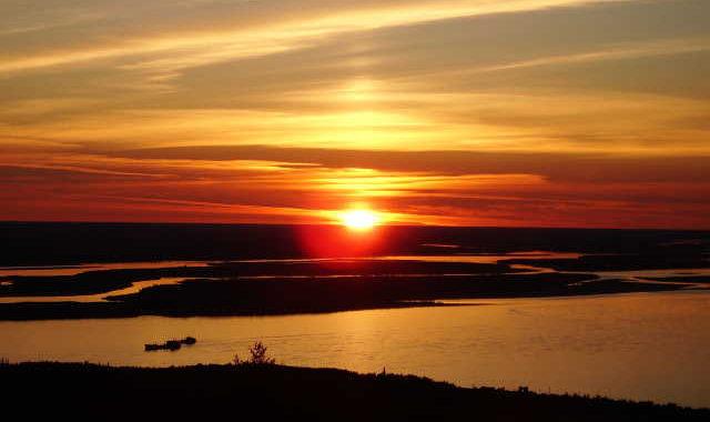 Закат в Якутии