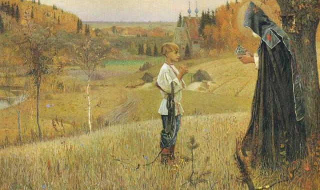 Михаил Васильевич Нестеров. «Видение отроку Варфоломею». 1890 г.