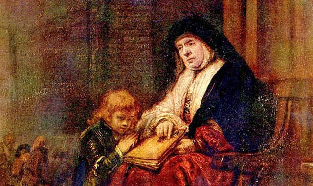 Рембрандт Харменс ван Рейн. Тимофей и его бабушка. 1648 г.