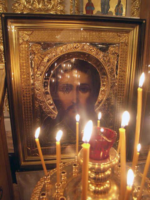 Икона Иисус Христос в якутском храме