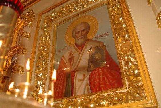 Икона Святителя Николая в Преображенском соборе Якутска