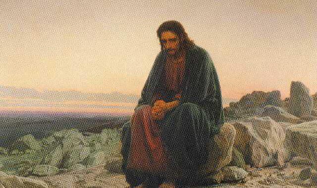Иван Крамской Христос в пустыне