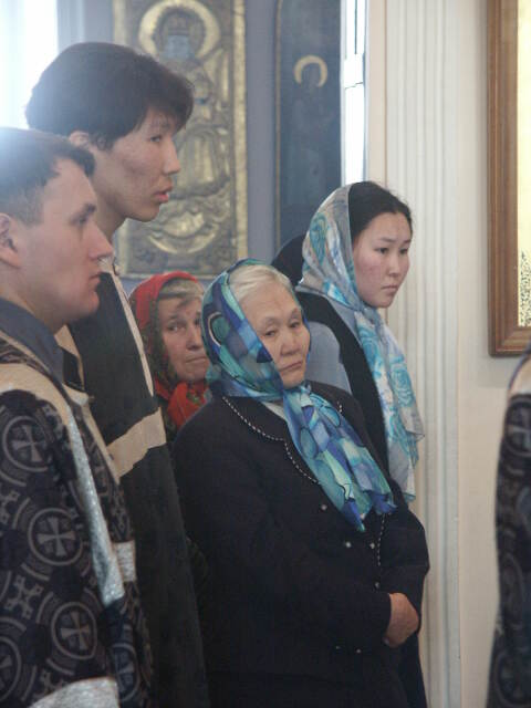 Елена Ильинична в церкви