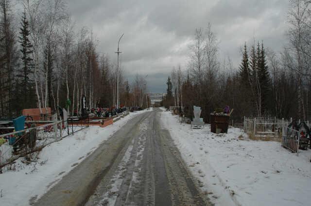 кладбище зимой