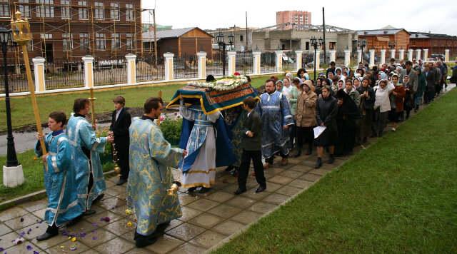 вынос плащаницы, Якутск, Преображенская церковь