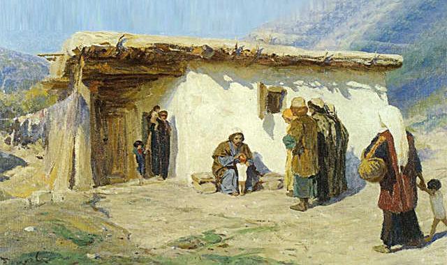 Поленов, Привели детей, Иисус, дети