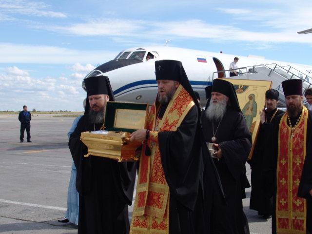 Прибытие мощей великой княгини Елисаветы Фёдоровны и инокини Варвары в Якутск