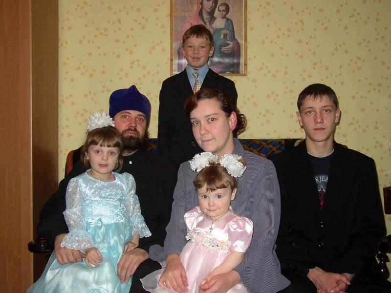 Наталья Терехова с семьёй