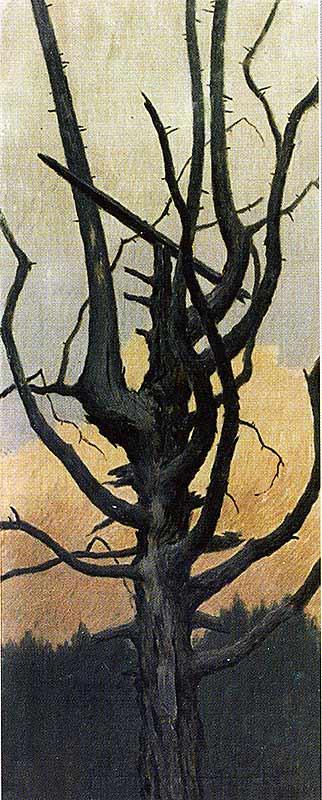 Шаманское жертвенное дерево-кэрэх
