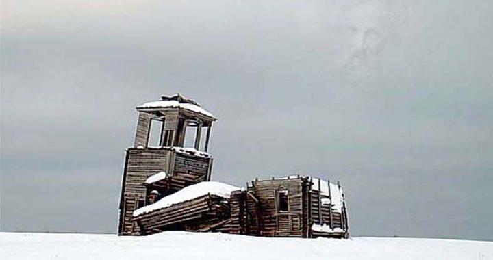 лик в небе над церьковью Няндомского района