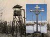 Крест-памятник жертвам массовых репрессий на Колыме