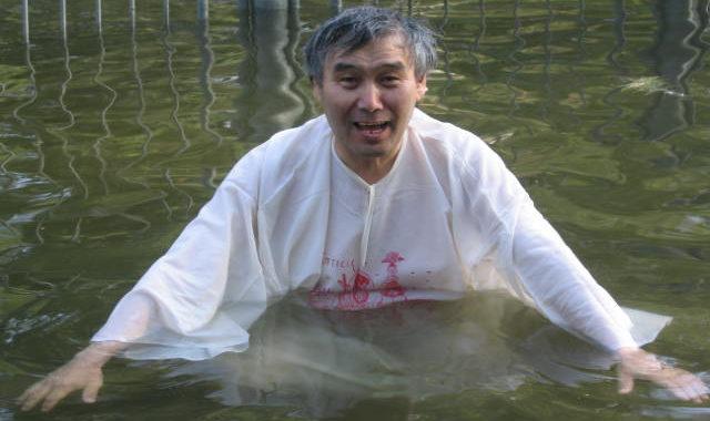 Никанор купается в Иордане