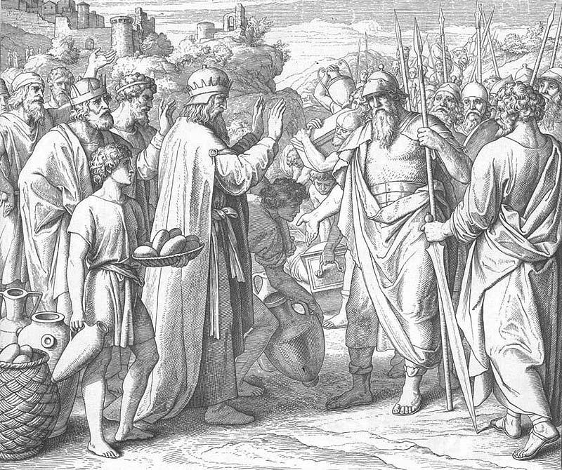 Карольсфельд: Мелхиседек благословляет Авраама