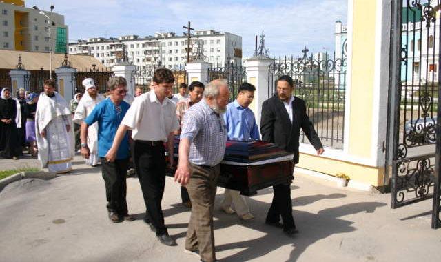 похороны, отпевание, Якутск
