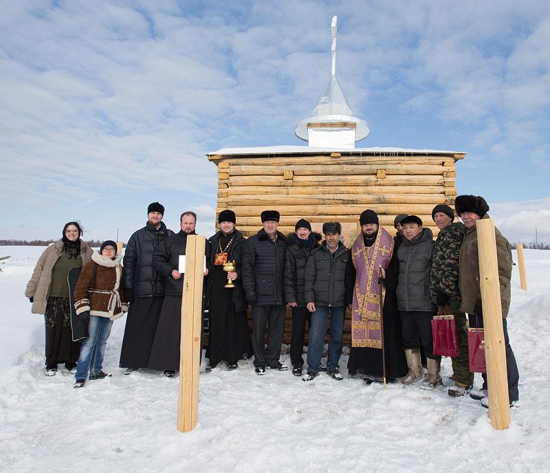 Часовня в честь свт. Николая Чудотворца в п. Ат-Дабан. Фото Юлии Маковейчук