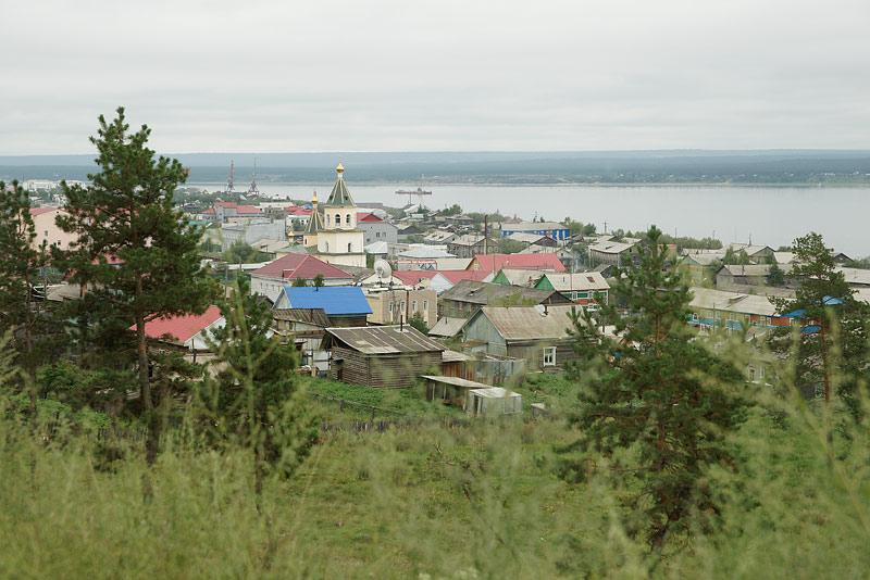 Панорама г. Олёкминска с видом на Спасский собор. Фото протоиерея Сергия Клинцова