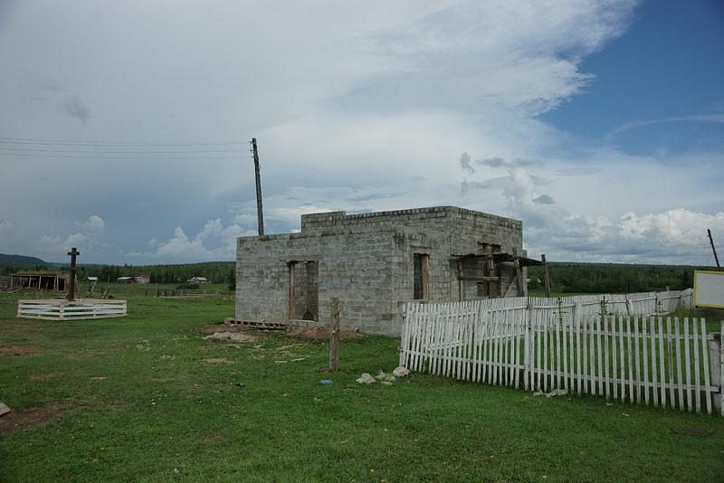 Строящийся Синский храм