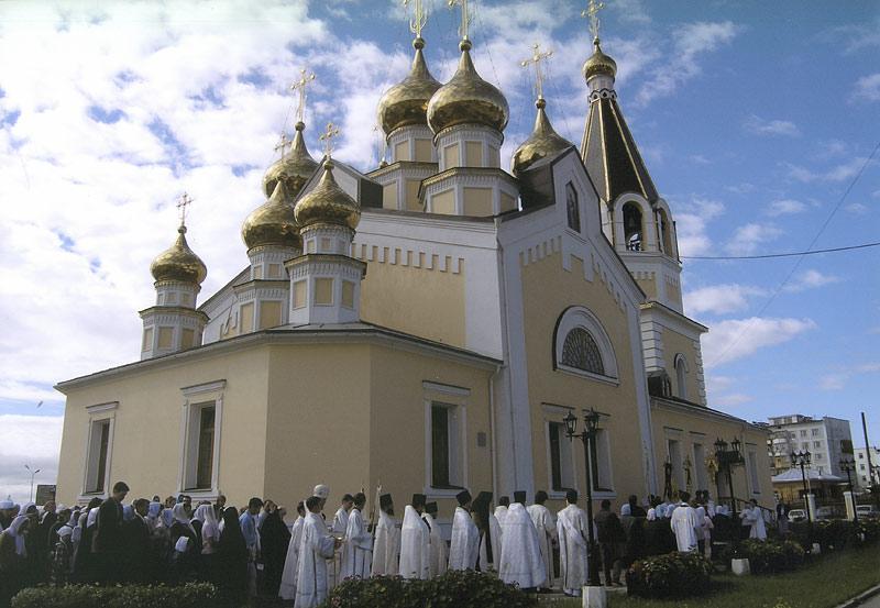 Освящение Преображенского храма в г. Якутске