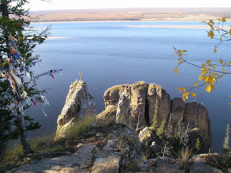 Вид на р. Лену с вершины Ленских столбов